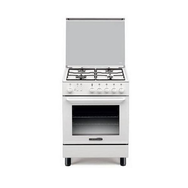 Cucina a gas bianca 4 fuochi a gas forno elettrico statico - Cucine pronta consegna ...