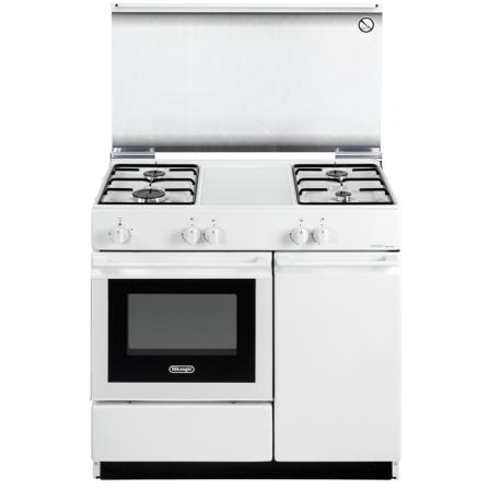 Cucina forno elettrico Bianca 4 fuochi SEW8540NED De Longhi