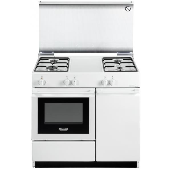 Cucina forno elettrico bianca 4 fuochi sew8540n de longhi - Cucina elettrica de longhi ...