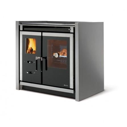 La Nordica Extraflame Cucina a Legna Italy Built-in 7015405 7,1 kW Inox