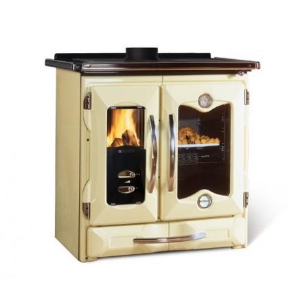 La Nordica Extraflame Cucina a Legna Mamy 7013738 8,7 kW Crema