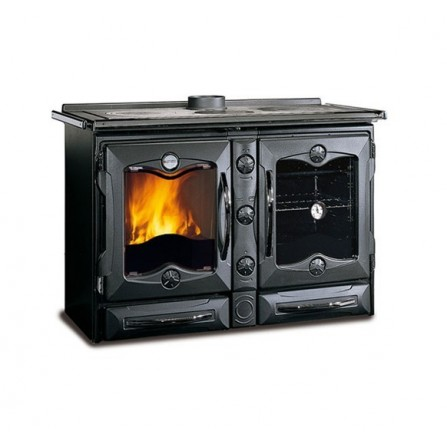 La Nordica Extraflame Cucina a Legna America 7016014 11,6 kW Nero