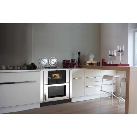 La Nordica Extraflame Cucina a Legna Verona 7016200 8,0 kW Inox
