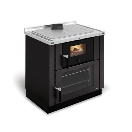 La Nordica Extraflame Cucina a Legna Verona 7016210 8,0 kW Antracite