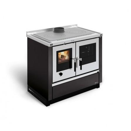 La Nordica Extraflame Cucina a Legna Padova 7016310 8,0 kW Antracite  - Pronta Consegna