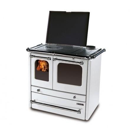 La Nordica Extraflame Cucina a Legna Sovrana EVO 7014320 9,0 kW Bianco  - Pronta Consegna