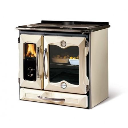 La Nordica Extraflame Cucina a Legna Suprema 7015740 8,5 kW Crema e Antracite