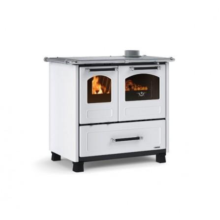 La Nordica Extraflame Cucina a Legna Family 4,5 7014003 9,0 kW Bianco  - Pronta Consegna