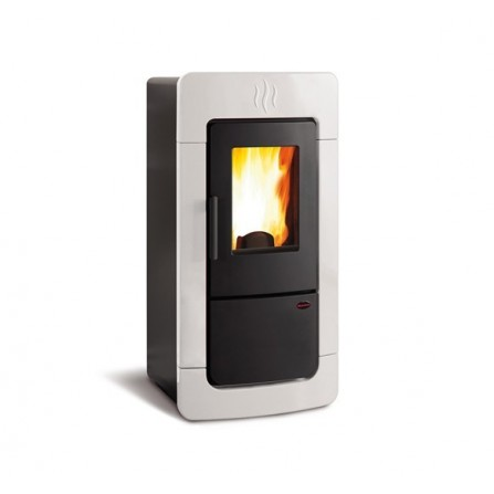 La Nordica Extraflame Termostufa a Pellet Diadema ACS IDRO 1276853 6,7-28,4 kW Bianco