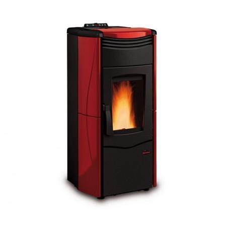 La Nordica Extraflame Termostufa a Pellet Melina IDRO 2.0 1274011 4,2-14,2 kW Bordeaux  - Pronta Consegna