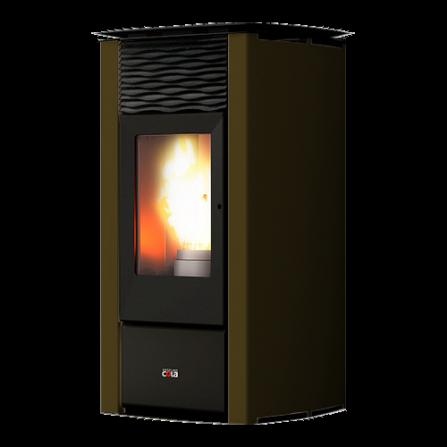 Cola Termo Stufa a Pellet Termo Focus Plus LSANL78Y Colore Corten  - Pronta Consegna
