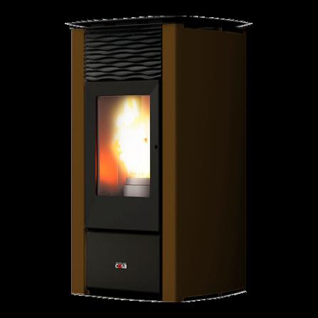 Cola Stufa a Pellet Termo Focus Plus LSANL80Y Colore Rust  - Pronta Consegna