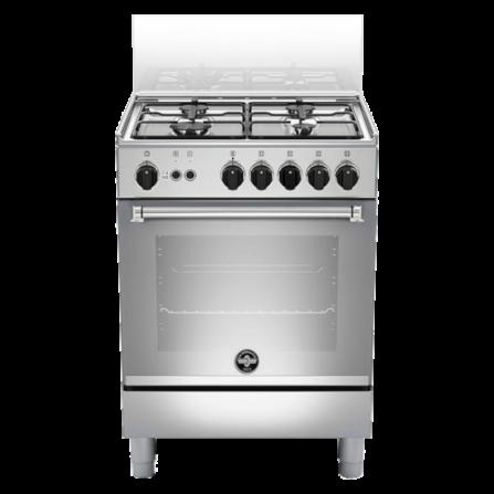 La Germania Cucina AMN654GXV 4 Fuochi Forno a Gas Ventilato Classe A+ 60 x 50 cm Inox Serie Americana - Pronta Consegna