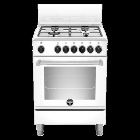 La Germania Cucina AMN664EBV 4 Fuochi a Gas Forno Elettrico Multi Classe A 60 x 60 cm Bianco Serie Americana  - Pronta Consegna