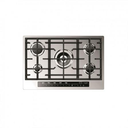 Fulgor Piano cottura a gas CPH 765 GWK TC X finitura acciaio inox da 77cm