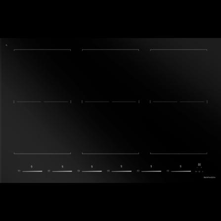 Barazza 1PIDS80N Piano cottura Induzione Space incasso e filo da 80- Richiedi Preventivo Personalizzato