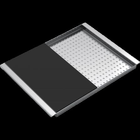 Barazza 1CITN Coprivasca rettangolare in acciaio inox con tagliere in HPL nero- Richiedi Preventivo Personalizzato