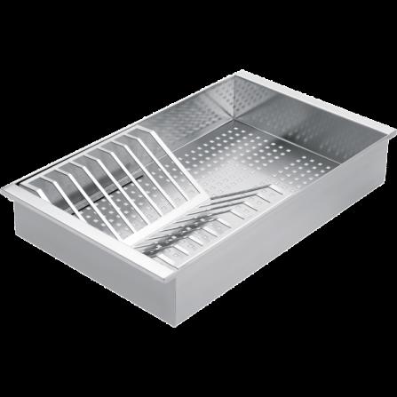 Barazza 1VSOF Vassoio forato con scolapiatti removibile in acciaio inox- Richiedi Preventivo Personalizzato