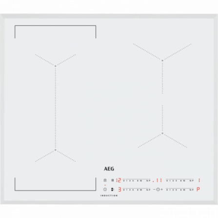 AEG Piano Cottura ad Induzione IKE64443FW Vetro Bianco da 60cm - Disponibilità Immediata