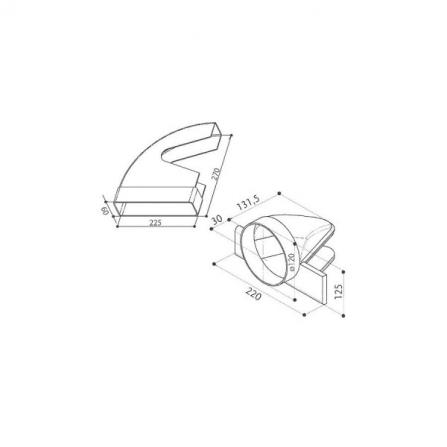 Faber Accessorio Curva Reversibile 112.0157.306