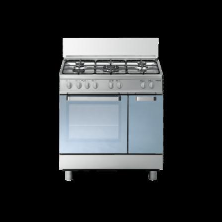 Tecno Gas Cucina Stile Arke' D827XS 80x50 Ripostiglio Forno Multifunzione 5 Fuochi Inox