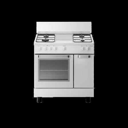 Tecno Gas Cucina Stile Arke' D822WS 80x50 Ripostiglio Forno Gas 4 Fuochi Bianco