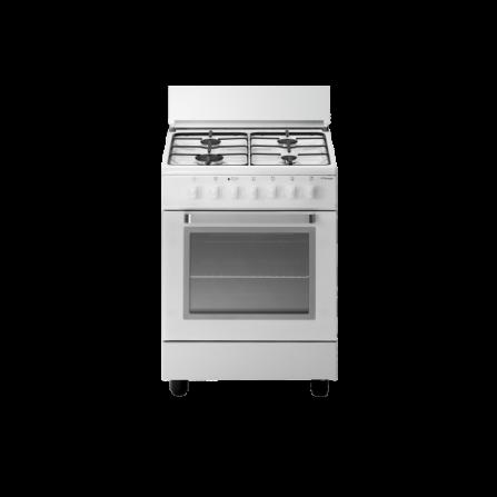 Tecno Gas Cucina Stile Arke' D53NWS 60x50 Forno Multifunzione 4 Fuochi Bianco