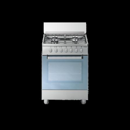 Tecno Gas Cucina Stile Arke' D53NXS 60x50 Forno Multifunzione 4 Fuochi Inox