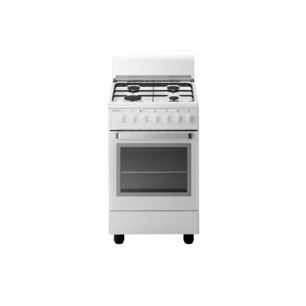 Tecno Gas Cucina Stile Arke' D13WS 50x50 Forno Elettrico Ventilato 4 Fuochi Bianco
