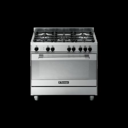 Tecno Gas Cucina Stile Pro PT999XS 90x60 Forno Multifunzione 5 Fuochi Inox