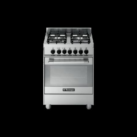 TecnoGas Cucina Stile Pro PT667XS 60x60 Forno Multifunzione 4 Fuochi Inox