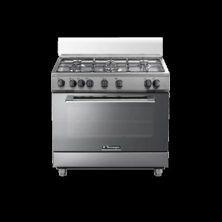 Tecno Gas Cucina Stile Pro P965MX 90x60 Forno Multifunzione 5 Fuochi Inox