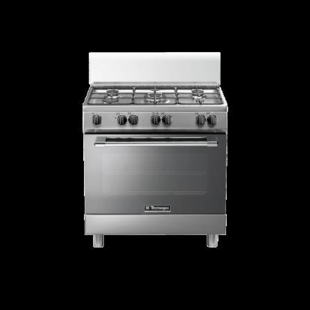 Tecno Gas Cucina Stile Pro P855MX 80x50 Forno Multifunzione 5 Fuochi Inox