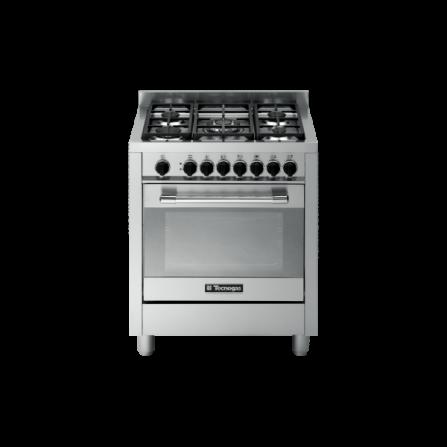 TecnoGas Cucina Stile Pro PT767XS 70x60 Forno Multifunzione 5 Fuochi Inox
