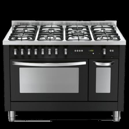 Lofra Cucina a Gas PNMD126GV+E/2CI Nero Matt da 120cm