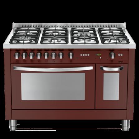 Lofra Cucina a Gas PRD126GV+E/2CI Rosso Burgundy da 120cm
