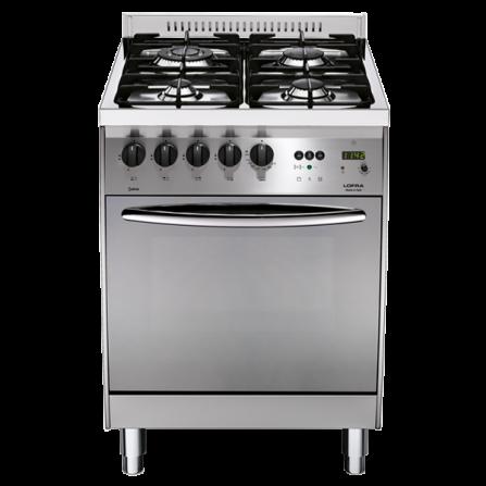 Lofra Cucina a Gas C66GV/C Acciaio Satinato da 60cm