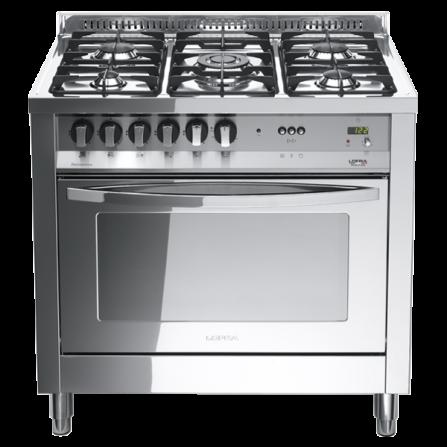 Lofra Cucina a Gas PLG96GVT/C Acciaio Inox da 90cm