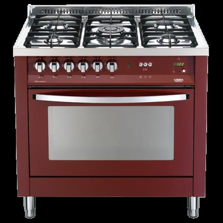 Lofra Cucina a Gas PRG96GVT/C Rosso Burgundy da 90cm