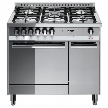 Lofra Cucina a Gas MT96GV/C Acciaio Inox da 90cm