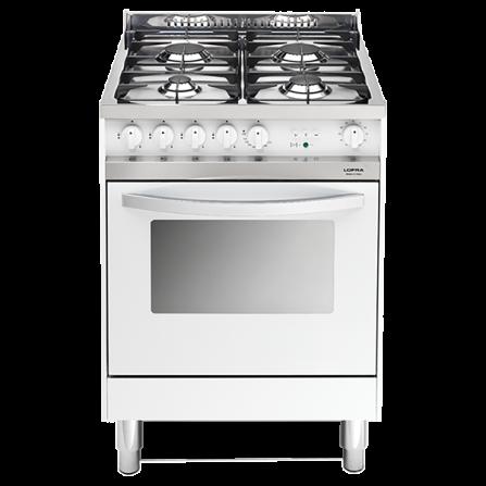 Lofra Cucina a Gas MB66GV Bianco Perla da 60cm