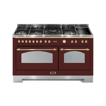 Lofra Cucina Elettrica RRD156MFT+MFT/AEOV Rosso Burgundy da 150cm