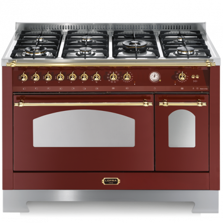 Lofra Cucina Elettrica RRD126MFT+E/2AEO Rosso Burgundy da 120cm