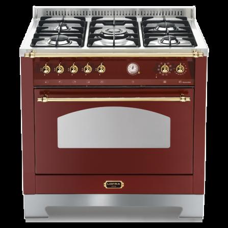 Lofra Cucina Elettrica RRG96MFT/CI Rosso Burgundy da 90cm
