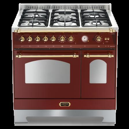 Lofra Cucina Elettrica RRD96MFTE/CI Rosso Burgundy da 90cm