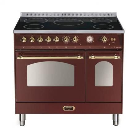 Lofra Cucina Elettrica RRD96MFTE/5I Rosso Burgundy da 90cm