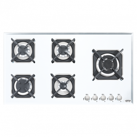 Lofra Piano Cottura a Gas HGB950 Vetro Bianco da 90cm