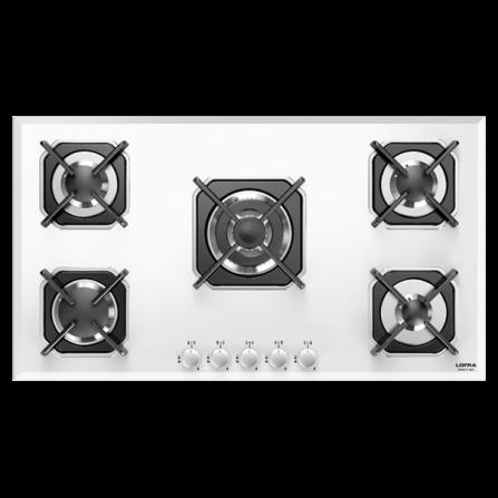 Lofra Piano Cottura a Gas HGB9E0 Vetro Bianco da 90cm