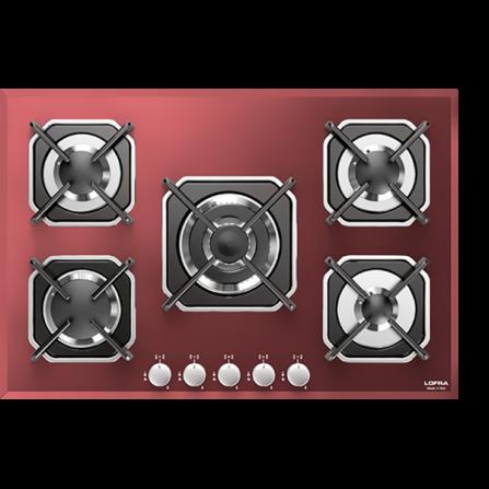 Lofra Piano Cottura a Gas HGR7E0 Vetro Rosso da 70cm