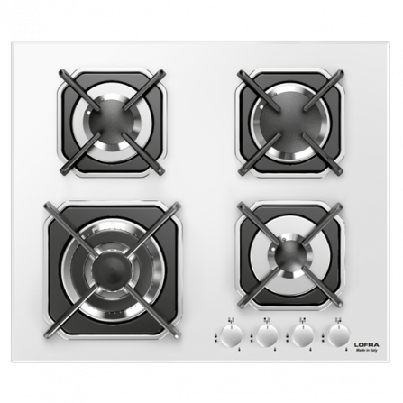 Lofra Piano Cottura a Gas HGB6G0 Vetro Bianco da 60cm